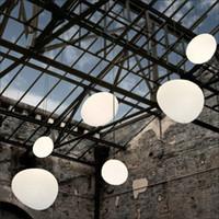 Anomaloze Cobblestone Hanglamp Melk Glas Kroonluchter Globe Hanger Lighting Drop Light voor Restaurant Cafe Woonkamer