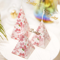 Floral Pattern Triangle Wedding Candy Box Birthday Party Bab...