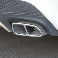 Из нержавеющей стали Автомобили Tail Горло Рама Украшение 2pcs для Mercedes Benz CLA C117 2013-16 выхлопной трубы Модифицированный Decals