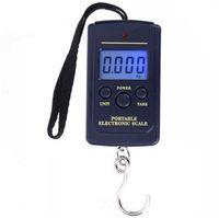 40 kg x 10 g Mini balanza digital para la pesca equipaje equipaje de viaje Steelyard Portable Electronic colgando gancho escala c770