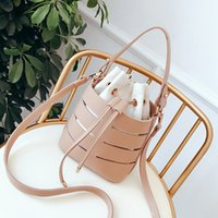 Drawstring Bucket Bag For Women Mini Pu Leather Crossbody Ba...