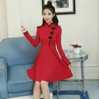 Thema Kostüm Japanische Lolita Kleid Harajuku Vinatge Gothic Kleider Schwarz Und Rot Dünne chinesische Art Chengosam