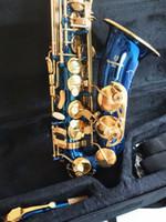 La migliore qualità Yanagisawa A-W02 sassofono contralto E flat Music sassofono contralto blu cielo con anse collo Custodia Livello professionale