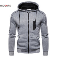 Miicoopie 2019 Mens Hoodies Sólidos pulôver Mens Outdoor Street Wear Mens camisola do Hoodie V191019