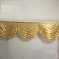 2M 3 Vorhang swags Gold Hochzeit Backdop Vorhang Swag Drapierung swags Tischchen Rock Swag für Event Partydekoration