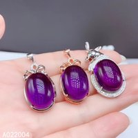 KJJEAXCMY Fine Jewelry 925 Sterling Silver inlaid Amethyst Female Pendant Necklace beautiful hot selling