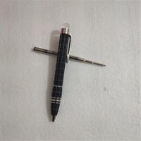 Cuerpo de la cabeza de cristal de alta calidad con clip de plata Ballpoint Pen Designer Roller Roller Papelery School School Office Supplies escribiendo para el mejor regalo