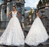 Principessa Milla Nova vestiti da cerimonia nuziale Linea Vintage 2020 Tulle piena del merletto di Applique Turkey Paese Occidentale schiena aperta nozze Abiti da sposa