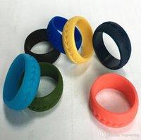 BUENO Colorido dedo Silicona Neumático Patrón Aro de piel Anillo de goma de silicona para protección Mech Vape Mod Vape Vaporizador Tanques RDA Decorar