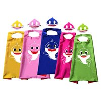 Baby Hai Robe Mantel Cape mit Maske Halloween Liefert Kinder Cosplay Kostüm Kinder Erwachsene Pinkfong Robe Mantel Kid Birthday Party