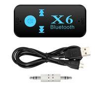 X6 محول بلوتوث 3 في 1 لاسلكي 4.0 USB بلوتوث استقبال AUX 3.5MM الصوت جاك TF قارئ بطاقة MIC دعوة دعم سيارة المتكلم