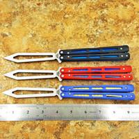 balisong Flytanium BM51 V4 D2 블레이드 G10 나비 활동 등 칼 트레이너 날카로운 바람둥이 여자 칼 수집 접는 나이프 크리스마스 선물