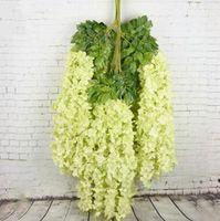 Wisteria artificielle branche de fleurs Bean fleurs suspendus Faux mariage Wisteria fleur Wisteria gros décoratif Simulation fleur LXL263-A