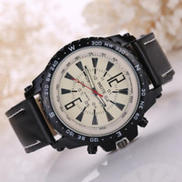 Fashion sports watch business casual men watch quartz movement watch pu band simple personality large dial