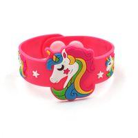 единорог Силиконовый браслет 4 цвета мультфильм Напульсник Kid девушки ювелирных изделий силикона способа Unicorn браслета подарка детей игрушек Оптовая BJJ65