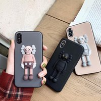 KAWS Toys Sesame Street 3D Soft Silicone Phone Cover Case Fo...