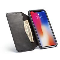 الفاخرة بو الجلود الحالات لفون xs ماكس فليب غطاء مع المغناطيس محفظة القضية iphonexs يغطي foriphone 6 ثانية 7 8 xr x r