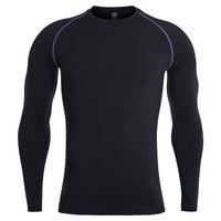 Wear homens aptidão manga longa New Long Sleeve Muscleguys Musculação Primavera Outono Camiseta Homens BranClotd Gym