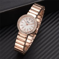 Luxus Damenuhren Temperament Mode Stahlgürtel Damen Diamant Herren und Damen Quarzuhr Montre Femme Acier Inoxydable