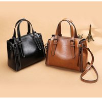 High Quality Genuine Leather Women' s Messenger Bags Vin...