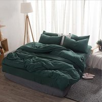 Confort Literie Pure Color Sets Hot vente Housse de couette 4 Photos Housse de couette de haute qualité Literie Fournitures Literie Home Textiles