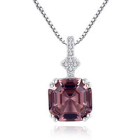 High- end Fashion Morgan Pink Stone Necklace Pendant Include ...