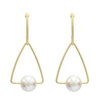 personalidad sencilla tendencia de la moda exagerada viento pendientes triángulo con las damas perla de la aleación earrin colgante pendientes de joyería colgante de regalo