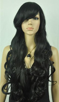 FREE SHIPPING+ + + Womens Fashion Sexy long Full Curly Wavy ...