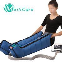 6 cavità elettrico Compressione Aria Massager del piedino del braccio della vita di massaggio del piede macchina di dolore Relax favorire la circolazione sanguigna