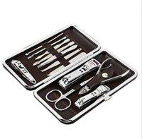 Mode Hot 12 en 1 pcs Kit coupe-ongles Nail Set soins pédicure Scissor brucelles Couteau oreille choisir Outils Utilitaire Set manucure