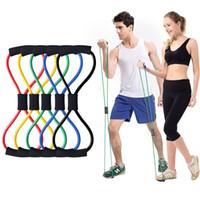 8 Bandas elásticos Palavra Academia Resistência Corda para a aptidão elástico Fitness Equipment Expander Workout Gym Train Exercício