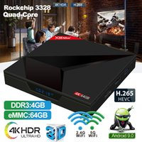 Smart Android 9.0 TV-Box 4 GB RAM 64 GB ROM X88 MAX + RK3328 2,4 G / 5 GHz Dual WiFi 4 K Set Top IPTV-Box
