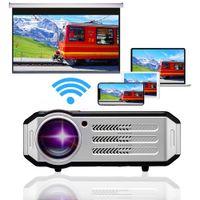 "WIFI Bluetooth-Projektor 1080p Full HD-Heimkino-Projektor USB-HDMI-VGA, 200"" Display für Home Camping Spiel, 3 Jahre Garantie"
