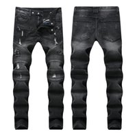 Klasik Siyah gri Renk Moda Erkek Kot Slim Fit Denim Motor Jeans Homme Pantolon Balplein Biker Jeans Erkekler