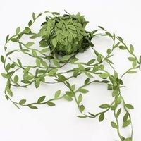 sauce vid artificial simulación de tejidos verdes hojas verdes de mimbre tejidas cuerda decorativa nórdica