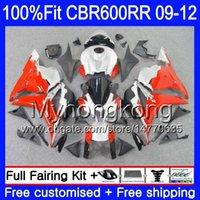 Injection Pour HONDA CBR 600RR CBR600 RR 2009 2010 2011 2012 282HM.45 CBR 600 RR 600F5 F5 CBR600RR 09 10 11 12 Carénages Kit chauffant rouge argenté