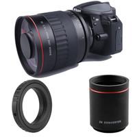 500mm F6.3 Lente de espejo de teleobjetivo + 2x Teleconverter para Nikon D850 D810 D800 D750 D700 Canon 700D 70d 60d 600d Sony Digital Cámara