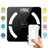 396lb / 180kg Bluetooth Waage intelligentes Körperfett elektronische Waagen Badezimmerwaagen Boden BMI Digitaler Fitnesswaage Great Deal