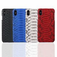 Echter realer natürliche Python-Leder-Kasten für iPhone 11 11 Pro Max XR XS XR Snake Skin Cover