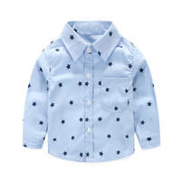 Everweekend Cute Toddler Baby Boys Gentle Stars Stampa Tees Camicie Candy Blue e Green Color Fashion Infant Kids Spring Clothes