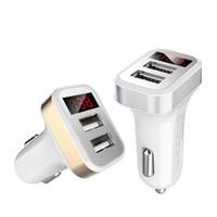 Carregadores de carro Mini Micro Dual USB Porta Adaptador de Carregador de Carro 5 V 2.1A para iphone 5 6 7 para samsung mp3 gps