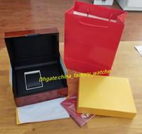 Legno contenitore di carte di orologi da polso da uomo Orologi scatole contenitori di vigilanza scatole regalo di lusso in legno