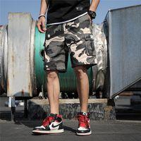 미국 주식 남성 공구 반바지 위장 대형 크기면 캐주얼 비치 숏 팬츠 실행 무릎 길이 여름 야외 남성 반바지 FY9107