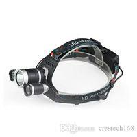 Crestech 6000Lm 3t6 Head Lamp Light 3-mode torch +2x18650 аккумулятор+ зарядное устройство для рыболовных фонарей 3t6 фары
