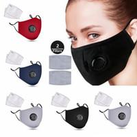 Maschere riutilizzabili Viso Anti-polvere e fumo regolabile bocca di cotone tessuto riutilizzabile Maschera di protezione con 2 Filtri per le donne Man PM2,5