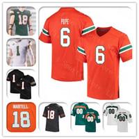 Personalizado 2021 Miami Hurricanes Futebol Futebol Jersey D'Eriq King Cam'ron Harris Mike Harley H Player N'kosi Perry Tate Martell Chaney Jr 4xl