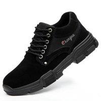LEOSOXS Homens sapatos Sapatos de trabalho de alta qualidade Segurança Botas de Aço Toe leve e respirável Anti Puncture