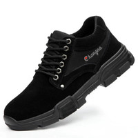Leosoxs الرجال أحذية العمل أحذية عالية الجودة أحذية السلامة الصلب تو تنفس خفيفة الوزن المضادة الثقب