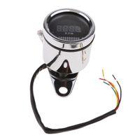 Medidor de 12V LED Digital RPM odómetro tacómetro Fuel Oil para la motocicleta