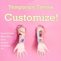 Пользовательские татуировки персонализированные временные татуировки настраивают татуировку очаровательны на заказ TATTOO для косплея или компании логотип партии футбольная игра